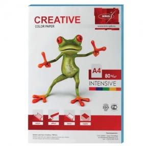 Бумага CREATIVE color, А4, 80 г/м2, 100 л., интенсив голубая