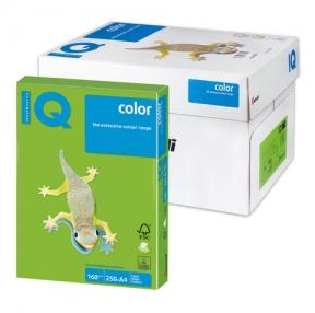 Бумага IQ  color, А4, 160 г/м2, 250 л., интенсив зеленая
