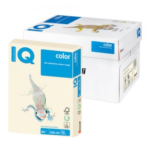 Бумага IQ  color, А4, 80 г/м2, 500 л., пастель кремовая