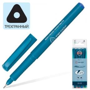 Ручки капиллярные KOH-I-NOOR, набор 4 шт., трехгранная, 0,5 мм, синяя, черная, красная, зеленая