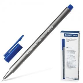 Ручка капиллярная STAEDTLER «Triplus», трехгранная, толщина письма 0,3 мм, синяя