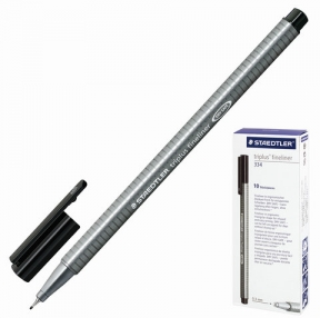 Ручка капиллярная STAEDTLER «Triplus», трехгранная, толщина письма 0,3 мм, черная