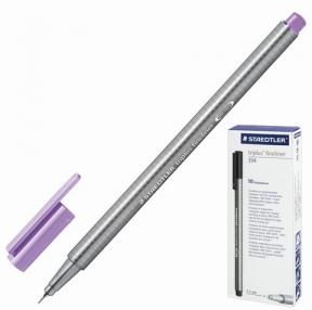 Ручка капиллярная STAEDTLER, трехгранная, толщина письма 0,3 мм, лавандовая