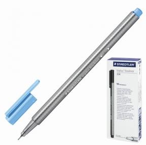 Ручка капиллярная STAEDTLER, трехгранная, толщина письма 0,3 мм, неоновая синяя