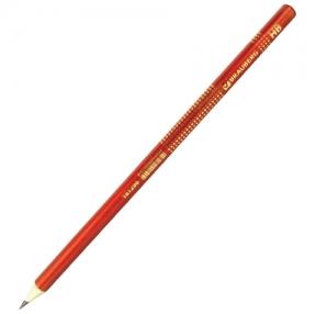 Карандаш чернографитный BRAUBERG, «Orient», HB, круглый,1 шт., оранжевый (181296)