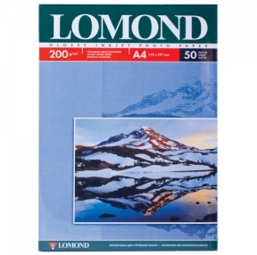 Фотобумага LOMOND для струйной печати, А4, 200 г/м2, 50 л., одност., глянцевая (360338)