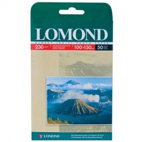 Фотобумага LOMOND для струйной печати, 10×15 см, 230 г/м2, 50 л., односторонняя, глянцевая