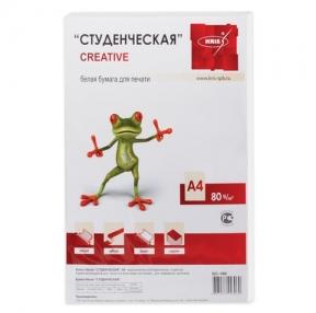 Бумага CREATIVE «Студенческая», А4 80 г/м2, 100 л. класс «С», белизна 94% (110520)