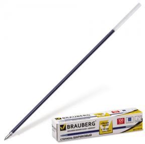 Стержень шариковый BRAUBERG «Line» , 152 мм, евронаконечник, 1 мм, синий