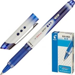 Ручка-роллер с грипом PILOT V-Ball Grip, Синяя, корпус с печатью, узел 0,5 мм, линия письма 0,3 мм, BLN-VBG-5  (141829)