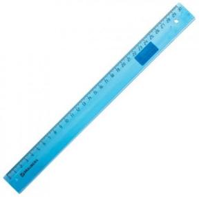Линейка пластиковая 30 см, BRAUBERG, прозрачная, тонированная (210610)Линейка пластиковая 30 см, BRAUBERG, прозрачная, тонированная (210610)