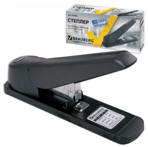 Степлер BRAUBERG Heavy duty MX, мощный, №24/6-23/13, на 80 листов, черный