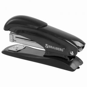 Степлер №24/6, 26/6 металлический BRAUBERG Office Expert, до 25 листов, черный (228593)