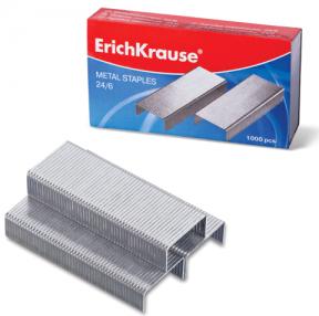 Скобы для степлера ERICH KRAUSE, №24/6, 1000 штук