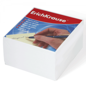 Блок для записей ERICH KRAUSE непроклеенный, 9×9х5 см, белый