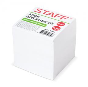 Блок для записей STAFF непроклеенный, куб, 9×9х9 см, белый