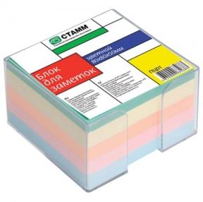 Блок для записей СТАММ в подставке, куб 8×8х5, цветной