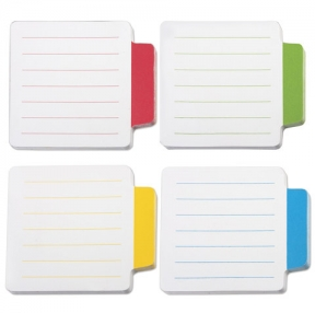 Блоки-разделители самоклеящиеся BRAUBERG, 70×70 мм,4 цвета х 25 листов